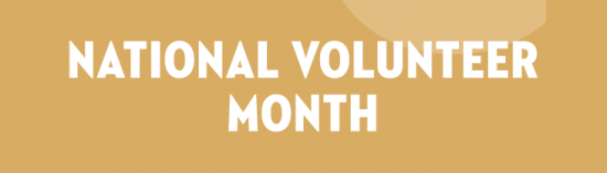 National Volunteer Month