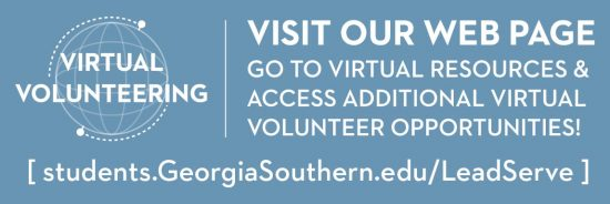 Visit webpage for Virtual Volunteer opportunities. Click here.