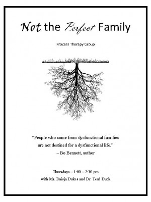 Not the Perfect Family Group Flyer
