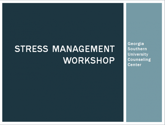 stress management workshop pic