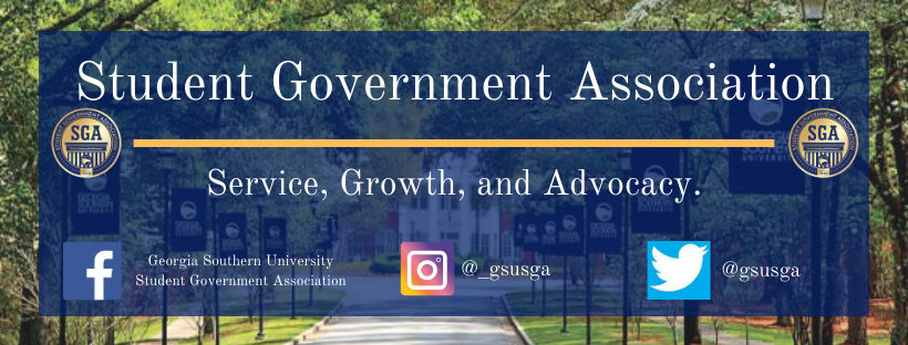 student government association - service, growth, advocacy. follow us on facebook, instagram and twitter @gsusga