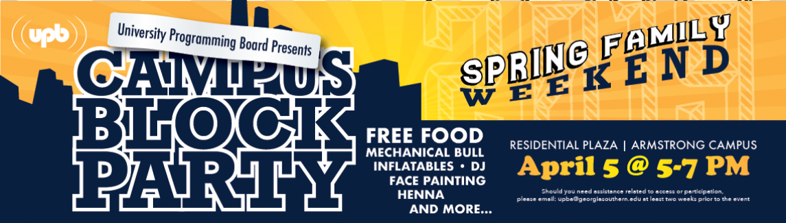 Campus Block Party - Web Banner