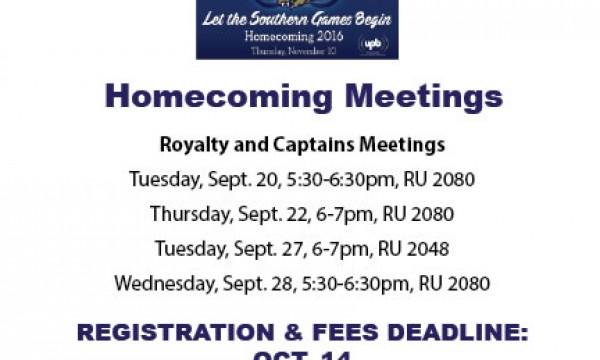 Homecoming meetings