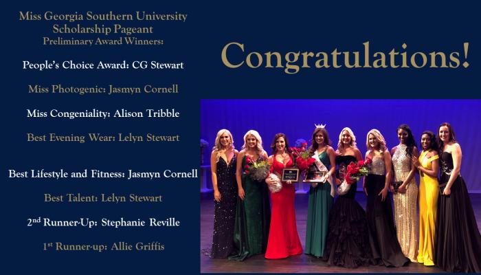 Miss GSU Prelim winners