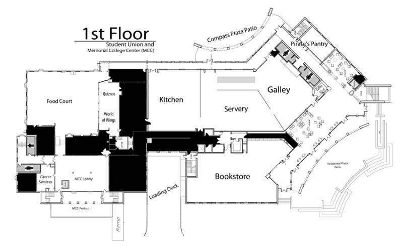 1st Floor Student Union Map