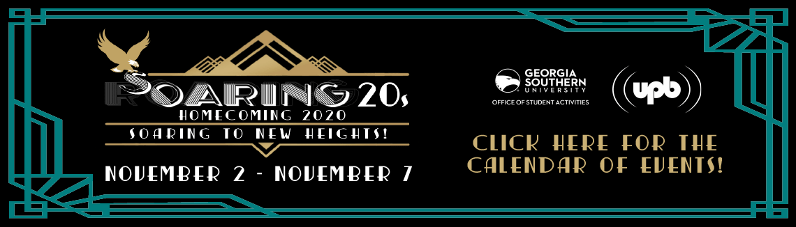 Soaring 20s Homecoming 2020 Soaring to new Heights Click here for the calendar of events!